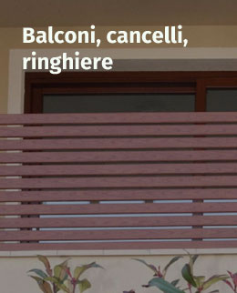 Balconi, cancelli e richiere